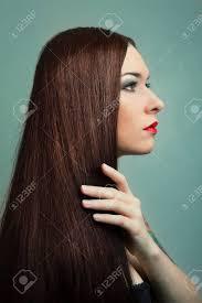 茶色の髪健康的な長い髪の美しい女性髪型 の写真素材画像素材