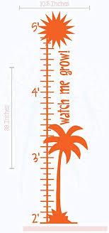 Amazon Com Palm Tree Height Ruler Chart Vinyl Decals