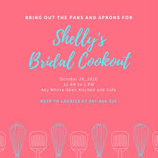 Bridal Shower Invitation Templates Magnificent Pink And Blue Illustrated Kitchen Bridal Shower Invitation