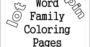 Word Family Coloring Pages Short Vowel Word Family Coloring Pages
