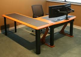 awesome dual monitor arm caretta workspace with regard to dual monitor desk ordinary