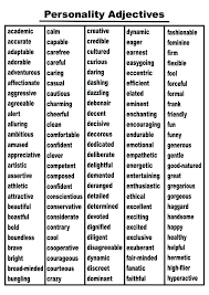 Adjectives For Resumes] Descriptive Words List Of Adjectives For .
