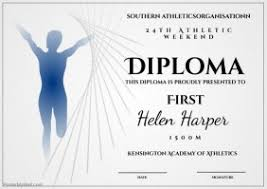 customizable design templates for sports diploma postermywall athletic diploma 1500m