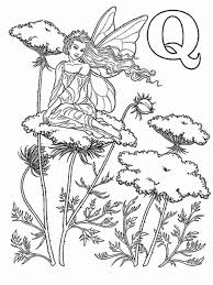 Small Picture Alphabet Elf Letter Q Coloring Pages an Elf with Lovely Hair