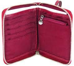 Coach Outline Signature Medium Zip Around Wallet Wristlet Red ...