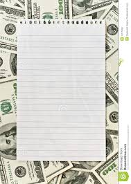 write essays for cash co write essays for cash blank white paper over money background stock photo image 10111680