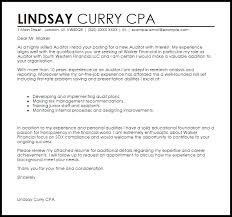 Auditor Cover Letter Sample Cover Letter Templates Examples