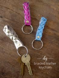 diy leather keychain