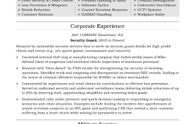 Security Officer Resume Sample security officer resume sample objective Josemulinohouseco 41