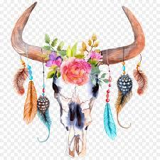 акварельная живопись быдло бык Png скачать 12001200 свободный