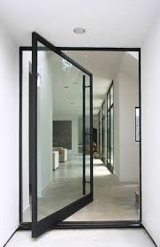 creative entrance for your dream house amazing entrance way with two side glass doors design