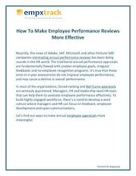 Microsoft Performance Reviews How To Make Employee Performance Reviews More Effective By Empxtrack
