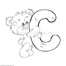 teddy bear alphabet letter c coloring pages