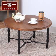 american number one round tea table coffee table iron wood furniture simple small living room coffee table