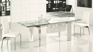dining room expandable dining table set with glass table for