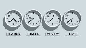 office clocks. Timezone Clocks Showing Different Time - HD Stock Footage Clip Office F