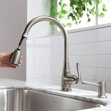 Polished Nickel Kitchen Faucet Kitchen Faucet Kraususacom