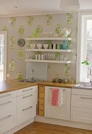 ... Kitchen Wallpaper Designs For Kitchen And Kitchen Design By Means Of  Placing Some Decorations For Your