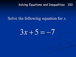 2 100 200 300 400 500 600 700 solving equations inequalities slope slope intercept form systems of equations using intercepts writing equations