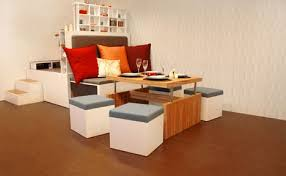 all in one furniture. Special Dining Room Trend To All In One Modular Fold Out Living Furniture Set