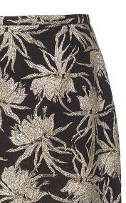 Floral Brocade Floral Brocade Pencil Skirt