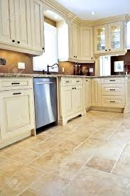 Ceramic Kitchen Flooring Ceramic Tile Floor In A Modern Luxury Kitchen Stock Photo Picture