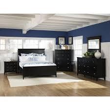 magnussen southampton panel bed 5 piece bedroom set in black finish