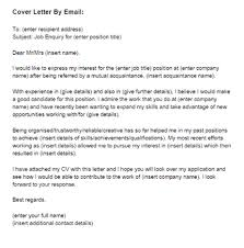 email covering letter email sample cover letter