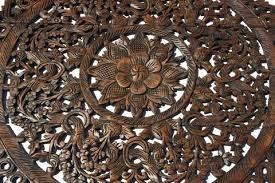 wood carved wall art carving lotus a elegant medallion wood carved wall plaque large round wood wood carved wall art