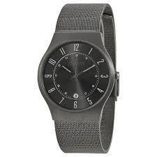 skagen titanium stainless steel mesh men s watch 233xlttm