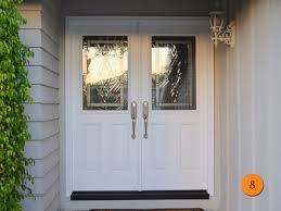 Contemporary Fiberglass Double Entry Door 60