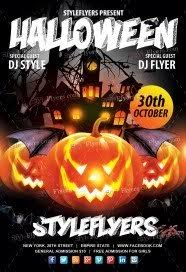 halloween template flyer free halloween flyer psd templates download styleflyers