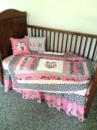 enchanting owl crib bedding girl grey pink and mauve baby girl owl crib set on baby girl owl crib bedding sets