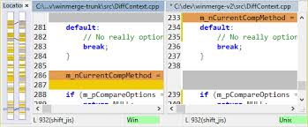 Comparing and merging text files - WinMerge 2.12 Manual