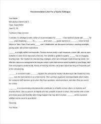 Recommendation Letter Teacher Colleague Calmlife091018 Com