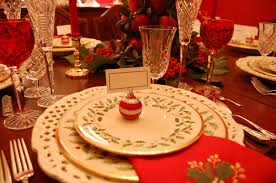 Round Table 122nd Christmas Tablescape With Lenox Holiday And A Colonial