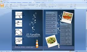 Menu Para Restaurante Mariscos Seafood Plantilla Word