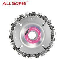 <b>ALLSOME 4 Inch Grinder</b> Disc and Chain 22 Tooth Fine Cut Chain ...