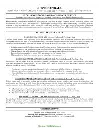 Car Salesman Resume Example Excellent Car Salesman Resume Example Car Sales Resume Sample 6