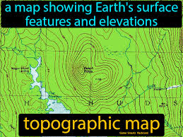 Topographic Map Definition Image Flashcard Game Smartz