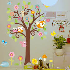 removable large tree wall stickers for children room animals cartoon nursery wall decals stickers spiderman wall stickers sports wall decals from flylife  on wall art toddler room with removable large tree wall stickers for children room animals
