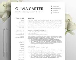 Mid Century Modern Resume Template Modern Resume Etsy