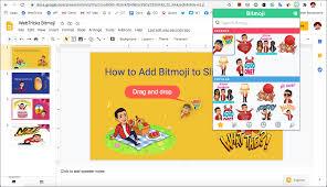 add bitmoji to google slides on desktop