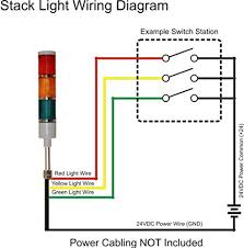 american led gible ld 5223 100 led tower light, 24v, red yellow Stack Light Wiring Diagram american led gible ld 5223 100 led tower light, 24v, red yellow green, steady tower stack lights amazon com industrial & scientific 855t stack light wiring diagram