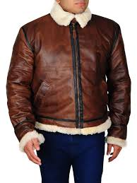 Raf Jacket Size Chart Mens Aviator Raf B3 Ginger Bomber Flying Shearling Jacket