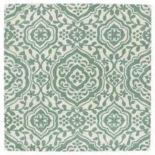 evolution mint 12 ft x 12 ft square area rug