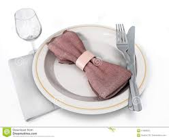 Napkin In Glass Design Serving Plate Fork Knife Wine Glass And Napkin 3d
