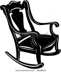 rocking chair silhouette. Chairs On Picture Of A Black Wooden Rocking Chair In Vector Clip Silhouette E