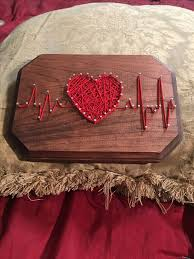 Made by ME - Heart Beat - nail and string art