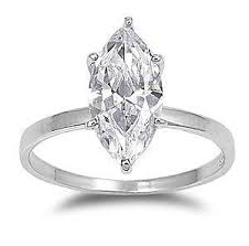 925 Sterling Silver Marquise Diamond Engagement Ladies Ring Size 4 10 Huge Bridal Solitaire 3 Carat Cz